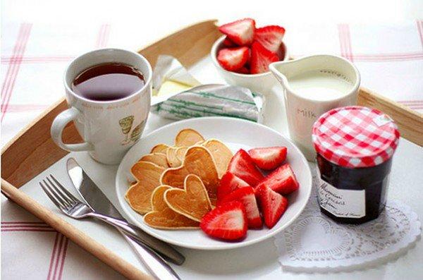 оформление блюда на День Влюбленных