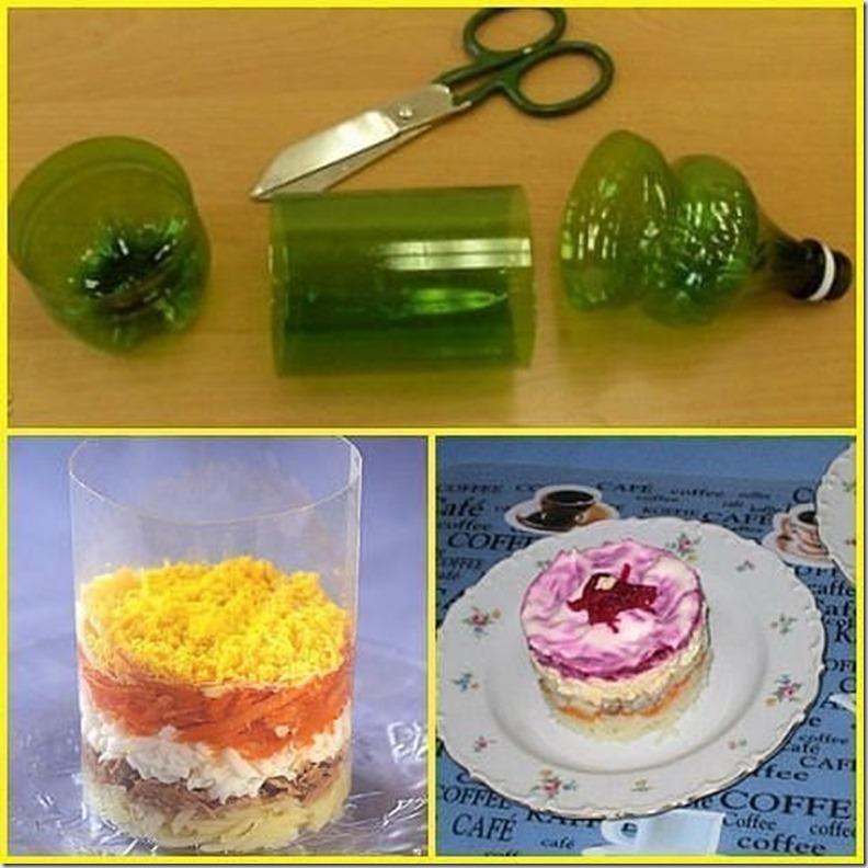 Как сделать формы для салатов